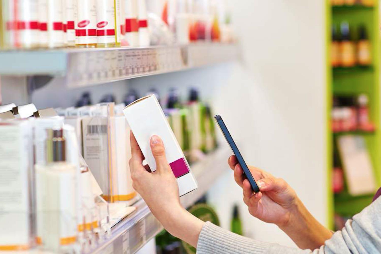 Décrypter la composition d'un cosmétique avec une application