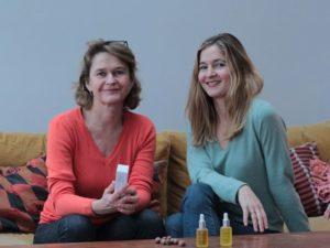 Marion Weber, créatrice de Oden en compagnie de sa mère