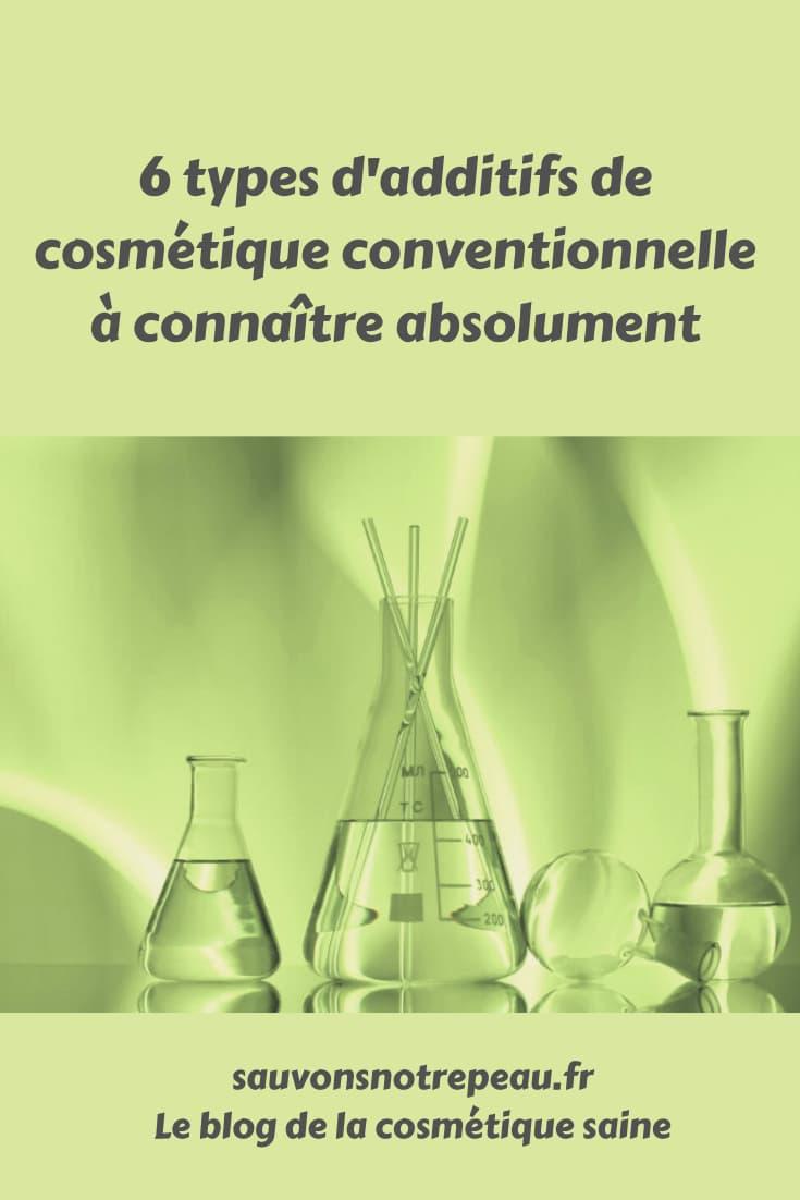 6 types d'additifs de Cosmétique conventionnelle à connaître absolument