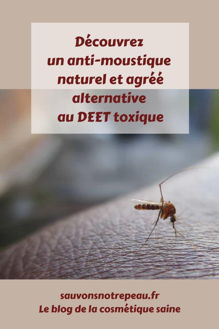 Découvrez un anti-moustique naturel et agréé, alternative au DEET toxique