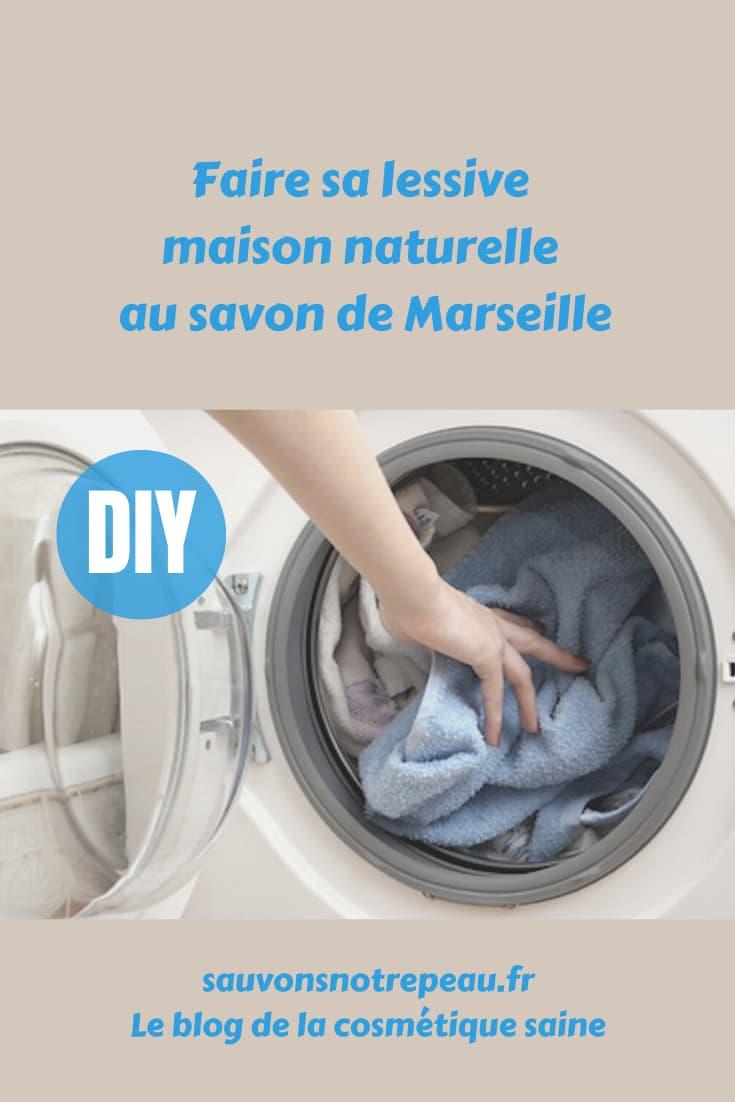 Faire sa lessive maison naturelle au savon de Marseille