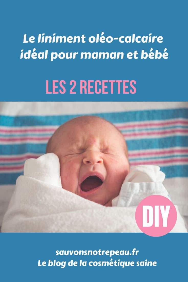 Le liniment oléo-calcaire pour maman et bébé, les 2 recettes