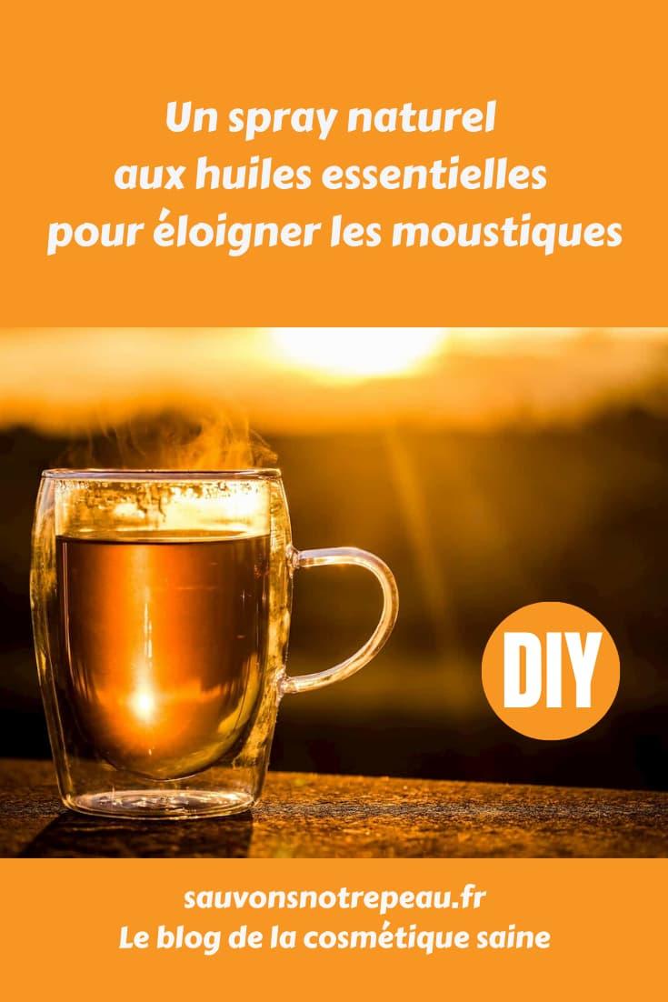 Un spray naturel aux huiles essentielles pour éloigner les moustiques