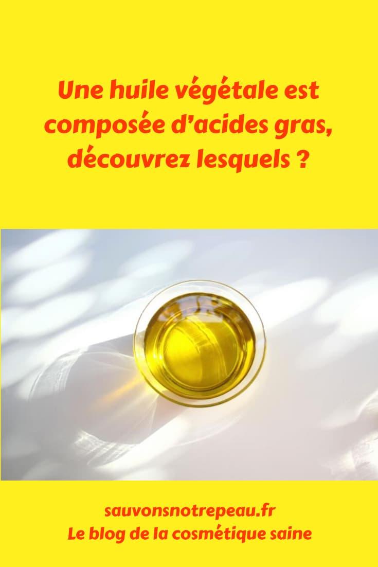 Une huile végétale est majoritairement composée d'acides gras