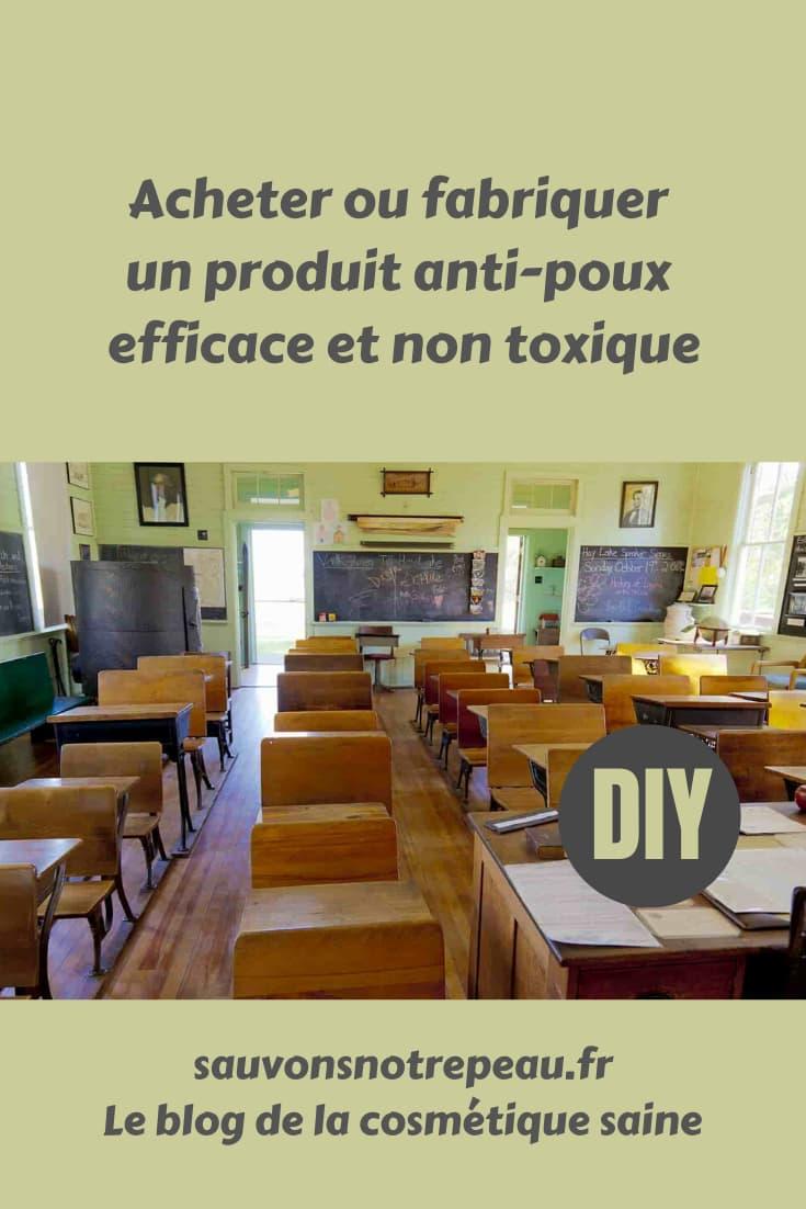 Acheter ou fabriquer un produit anti-poux efficace et non toxique
