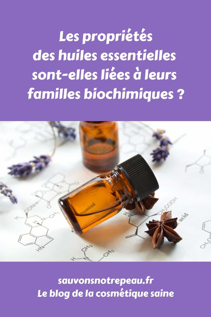 Les propriétés des huiles essentielles sont-elles liées à leurs familles biochimiques ?