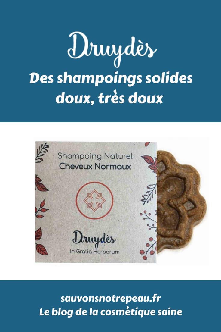 Druydès, des shampoings solides doux, très doux