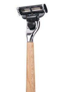 Rasoir en bois de chêne clair à tête rechargeable Caliquo