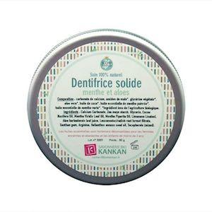 Dentifrice solide Menthe et Aloes Kankan