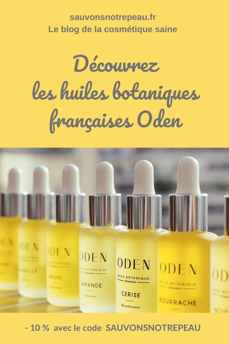 Les huiles botaniques françaises Oden