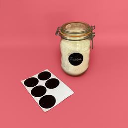 Etiquette ardoise à bocal Pousse Pousse