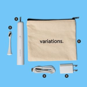 La brosse à dent électrique sonique MyVariation et sa pochette